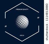 earth logo   halftone sphere   Shutterstock .eps vector #1114813880