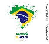 welcome to brazil. america.... | Shutterstock .eps vector #1114820999