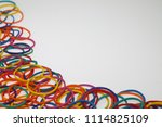 colorful elastic band isolated... | Shutterstock . vector #1114825109