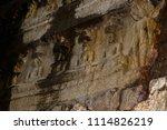 buddhist sculptures in the... | Shutterstock . vector #1114826219