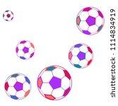 background with soccer balls.... | Shutterstock .eps vector #1114834919