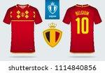 soccer jersey or football kit... | Shutterstock .eps vector #1114840856