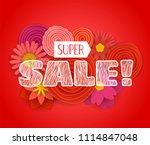 summer sale promo banner.... | Shutterstock .eps vector #1114847048