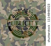 publicity on camouflage texture | Shutterstock .eps vector #1114848323