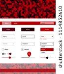 dark red vector wireframe kit...