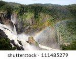 Rainbow And Waterfall  Next To...