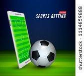 football field on screen of... | Shutterstock .eps vector #1114859888