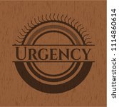 urgency badge with wood... | Shutterstock .eps vector #1114860614