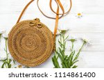 fashionable handmade natural... | Shutterstock . vector #1114861400