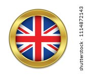 england golden badge with the... | Shutterstock .eps vector #1114872143