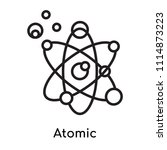atomic icon vector isolated on... | Shutterstock .eps vector #1114873223