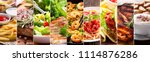 collage of various food products | Shutterstock . vector #1114876286