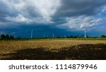 wind farm plant with beautiful... | Shutterstock . vector #1114879946