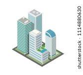 3d isometric city map...   Shutterstock .eps vector #1114880630
