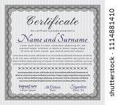 grey certificate template.... | Shutterstock .eps vector #1114881410