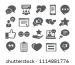 feedback icons set | Shutterstock .eps vector #1114881776
