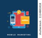 business news concept.   flat... | Shutterstock .eps vector #1114881818