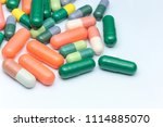lots of different medicine... | Shutterstock . vector #1114885070