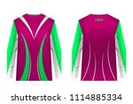 templates jersey for... | Shutterstock .eps vector #1114885334