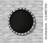 3d render marquee light circle... | Shutterstock .eps vector #1114887296