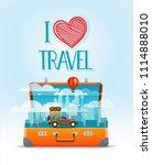 travel bag vector illustration. ... | Shutterstock .eps vector #1114888010