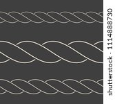 seamless minimalist rope... | Shutterstock .eps vector #1114888730