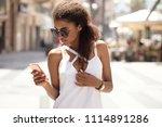 beautiful african american... | Shutterstock . vector #1114891286