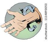 stock illustration. handcuffs... | Shutterstock .eps vector #1114893053
