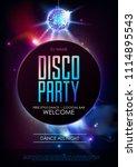 disco ball background. disco... | Shutterstock .eps vector #1114895543