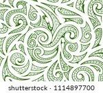 maori style ethnic ornament.... | Shutterstock .eps vector #1114897700