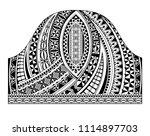 polynesian traditional half... | Shutterstock .eps vector #1114897703