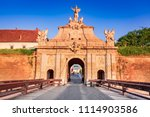 Small photo of Alba Iulia, baroque architectural gate of the stonwalled city of Alba Carolina, Transylvania, Romania.