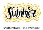 summer   haddrawn lettering... | Shutterstock .eps vector #1114904330