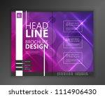 modern vector abstract brochure ...   Shutterstock .eps vector #1114906430