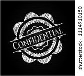 confidential chalconfidential... | Shutterstock .eps vector #1114910150