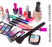 set of makeup products isolated ... | Shutterstock . vector #111491090
