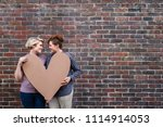 smiling young lesbian couple...   Shutterstock . vector #1114914053