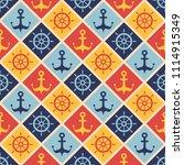 maritime mood  seamless...   Shutterstock .eps vector #1114915349
