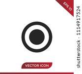 radio on button vector icon