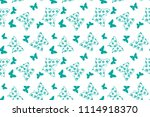 seamless pattern with... | Shutterstock .eps vector #1114918370