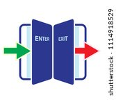 entry and exit indicator  exit... | Shutterstock .eps vector #1114918529