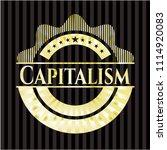 capitalism golden badge   Shutterstock .eps vector #1114920083