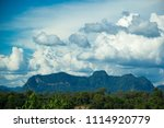 Small photo of Mekong river and sky,Nakhon Phanom and Mekong Rivers, lake and mountain, Could and river.