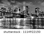 new york city  financial... | Shutterstock . vector #1114922150
