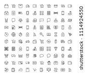 e shopping flat icon set .... | Shutterstock .eps vector #1114924550