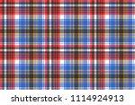 blue check plaid tartan... | Shutterstock . vector #1114924913