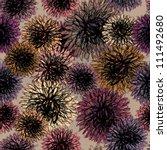 dahlia   floral seamless autumn ... | Shutterstock .eps vector #111492680