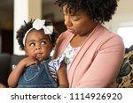 african american mother... | Shutterstock . vector #1114926920