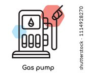 gas pump icon vector isolated...