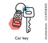 car key icon vector isolated on ... | Shutterstock .eps vector #1114928303